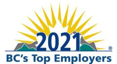 BC 2021 Top Employer Logo